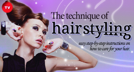 The technique of hair styling