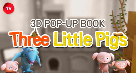 3D POP-UP BOOK 'Three Little Pigs'