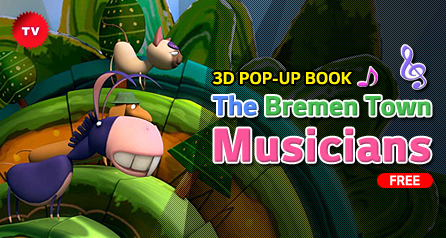 3D POP-UP BOOK 'The Bremen Town Musicians_free'