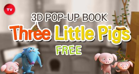 3D POP-UP BOOK 'Three Little Pigs_free'